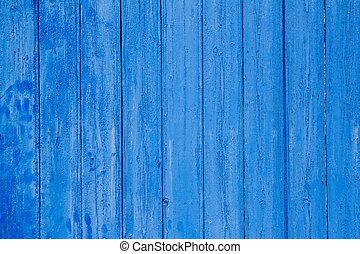 青, グランジ, 外気に当って変化した, 手ざわり, 木, ドア, 年を取った