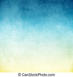 青, グランジ, 手ざわり, 背景