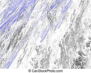 青, グランジ, 抽象的, 汚い, 背景, 白, 背景