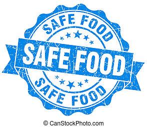 青, グランジ, 食物, 安全である, 隔離された, シール, 白