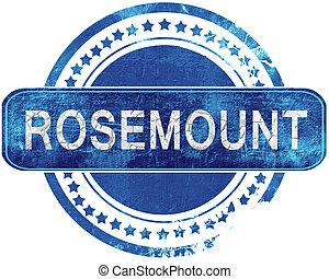青, グランジ, rosemount, 隔離された, stamp., white.