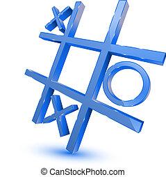 青, ゲーム, シンボル, tris