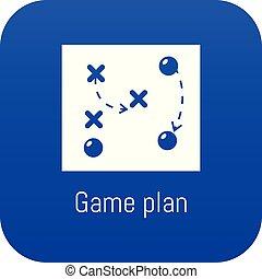 青, ゲーム, ベクトル, 計画, アイコン