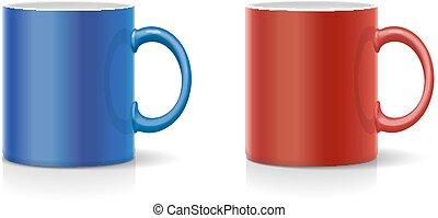 青, コーヒー, ベクトル, 大袈裟な表情をしなさい, 赤