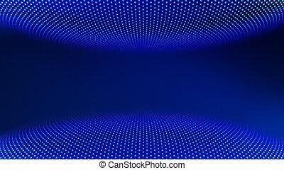 青, サイバースペース, 部屋, 概念, バーチャルリアリティ, イラスト, 背景, 技術, 未来派, 3d