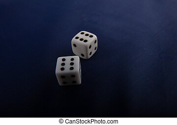 青, シンボル, カジノ, 2, 布, ゲーム, さいの目に切る