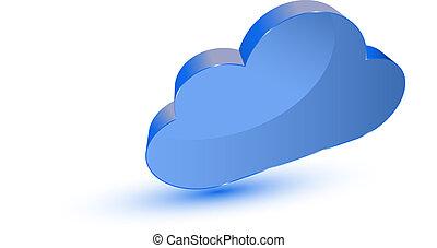 青, シンボル, 雲, 計算