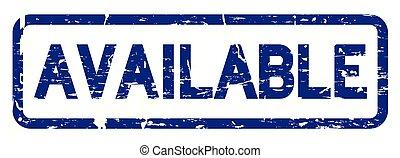 青, シール, 広場, 利用できる, ゴム製 スタンプ, グランジ, 背景, 白