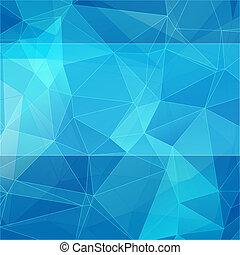 青, スタイル, 抽象的, 三角, 背景