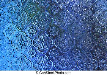 青, ステンドグラス, 背景