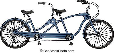 ∥, 青, タンデム自転車