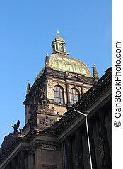 青, チェコ, 国民, 空, プラハ, 共和国, 背景, 博物館