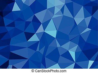 青, テンプレート, ビジネス 実例, 創造的, polygonal, 背景, ベクトル, デザイン, 白, モザイク