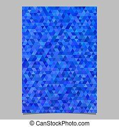 青, テンプレート, 抽象的, -, ベクトル, デザイン, 背景, パンフレット