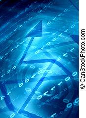 青, データ, スペース