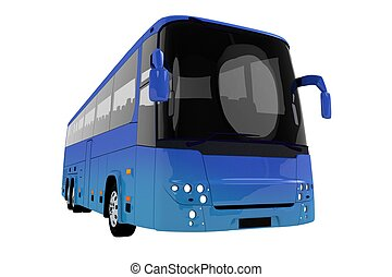青, バス, 旅行, 現代