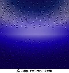青, バックグラウンド。, ぬれた