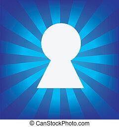 青, バックグラウンド。, キー, 放射状