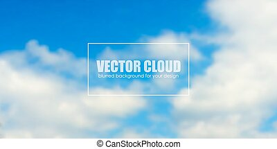 青, バックグラウンド。, ベクトル, 空, clouds.