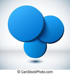 青, バックグラウンド。, 円, 3d