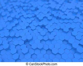 青, バックグラウンド。, 抽象的, 六角形, 技術的である