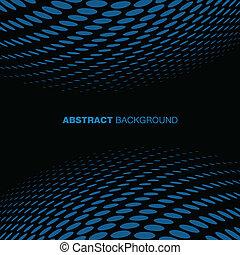 青, バックグラウンド。, 抽象的, 技術, halftone