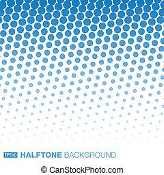 青, バックグラウンド。, 抽象的, halftone