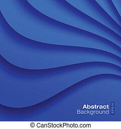 青, バックグラウンド。, 波状