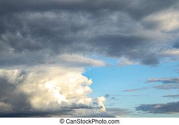 青, バックグラウンド。, 雷雲, sky.