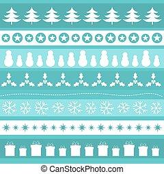 青, パターン, クリスマス