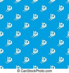 青, パターン, フォークリフト, seamless