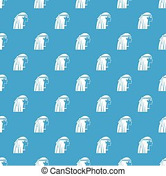 青, パターン, 女の子, seamless, エジプト人