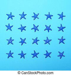 青, パターン, 小さい, 背景, 星