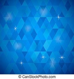 青, パターン, 幾何学的, レトロ, モザイク