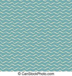青, パターン, 抽象的, seamless, ベクトル, 波