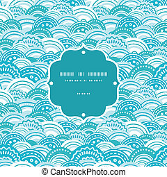 青, パターン, 抽象的, seamless, ベクトル, 背景, 波, フレーム