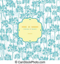 青, パターン, 抽象的, seamless, 木, 背景, フレーム