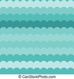 青, パターン, 抽象的, seamless, 波, ベクトル, 背景, 波