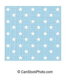 青, パターン, 星, ライト