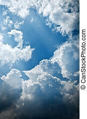 青, パターン, 空, 曇り, 自然