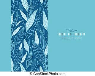 青, パターン, 葉, seamless, 背景, 竹, 横