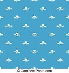 青, パターン, seamless, ゾンビ, 脳, ベクトル