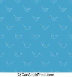 青, パターン, seamless, ピエロ, ベクトル, 口