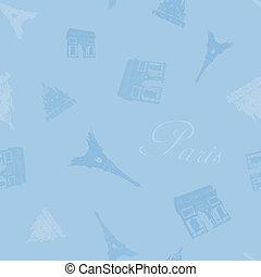 青, パリ, 背景