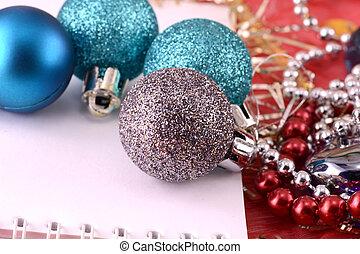 青, パール, 装飾, クリスマス