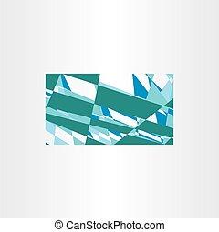青, ビジネス, 抽象的, ベクトル, 緑の背景, カード