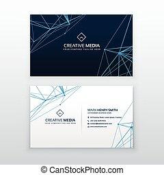 青, ビジネス, 抽象的, ライン, テンプレート, カード