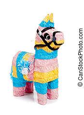 青, ピンク, 黄色, burro, 白, pinata