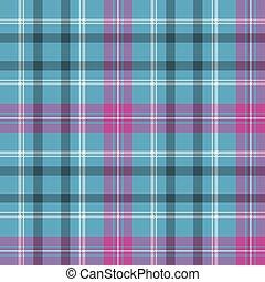 青, ピンク, plaid, パターン, seamless, 点検