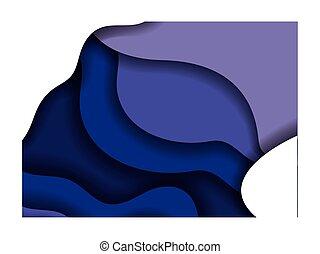 青, フレーム, ベクトル, 波, 中, 背景, デザイン